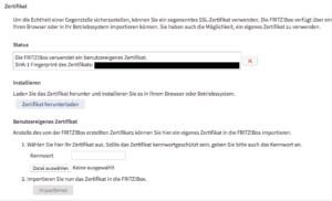 FritzBoxZert