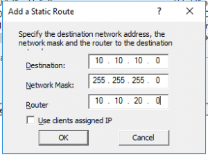 DHCP Route3