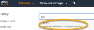 AWS RDS Create 01